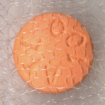 Closeup of a beta blocker pill in fabric