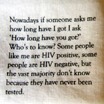 "Table Talk quote: ""Nowadays if someone asks me how long have I got..."""