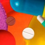 Brightly-coloured pills